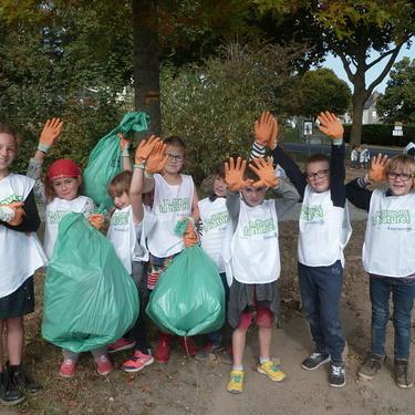 Les enfants de l''école Diwan mobilisés sur le respect de l''environnement dans le quartier.