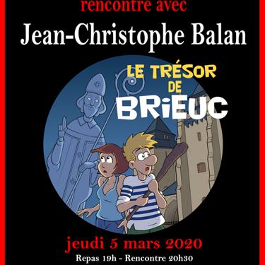 Pizza littéraire avec Jean-Christophe Balan le jeudi 5 mars, Stella Maris.