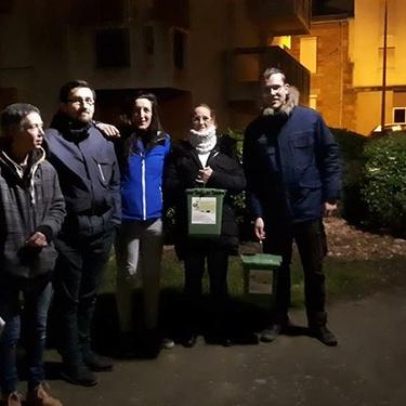 Porte à porte pour du compostage collectif dans les immeubles Carnot