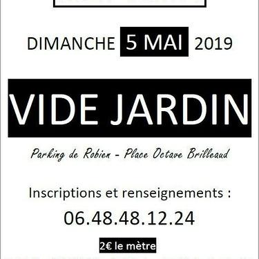 Vide jardin à Robien le 5 mai