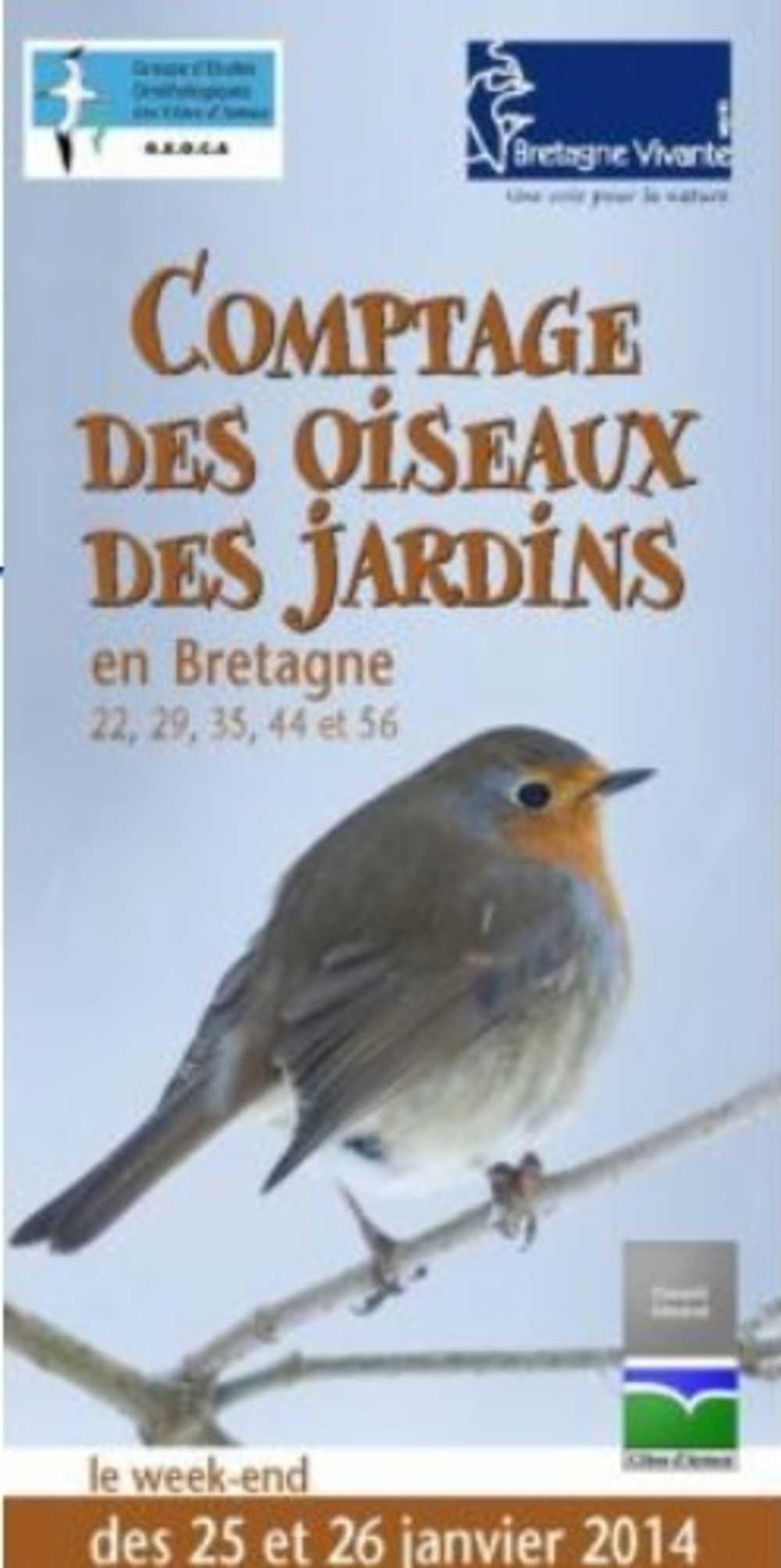 Comptage des oiseaux des jardins les 25 et 26 janvier 2014 0