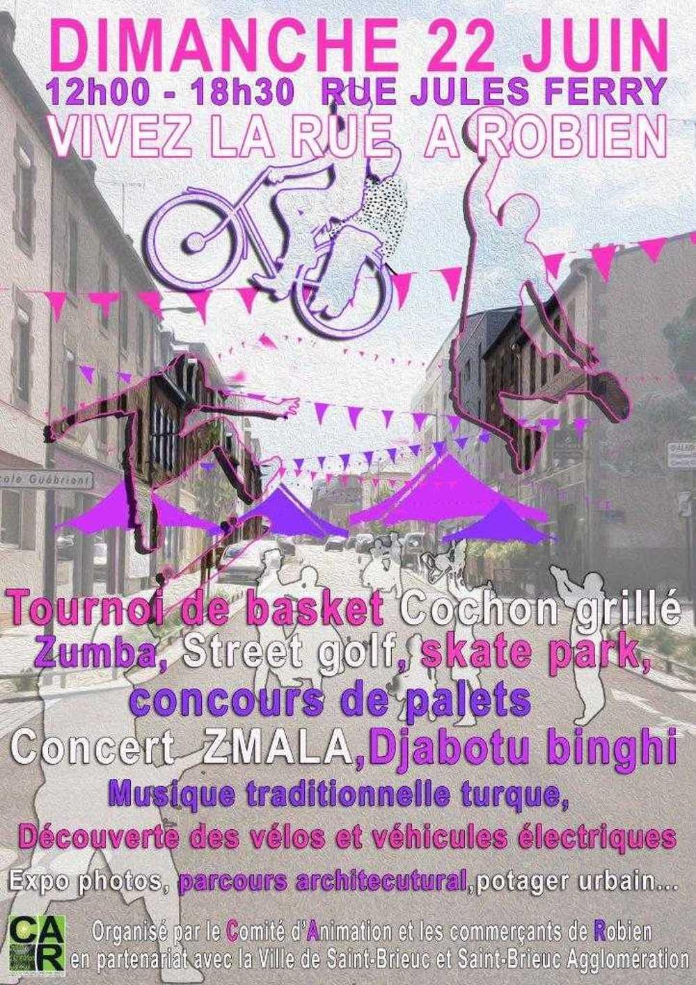 Vivez la rue à Robien, dimanche 22 juin 2014 affiche22juin