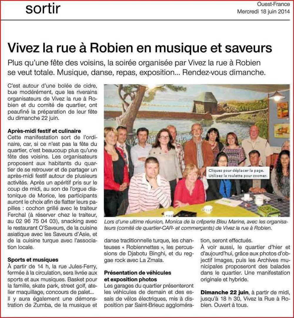Vivez la rue à Robien, dimanche 22 juin 2014 of18juin