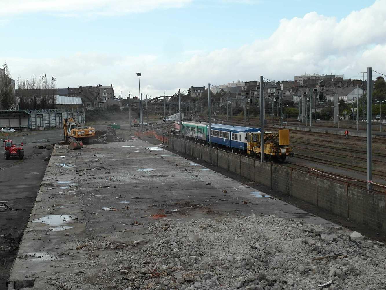 Les travaux continuent sud gare 2014 sam5146