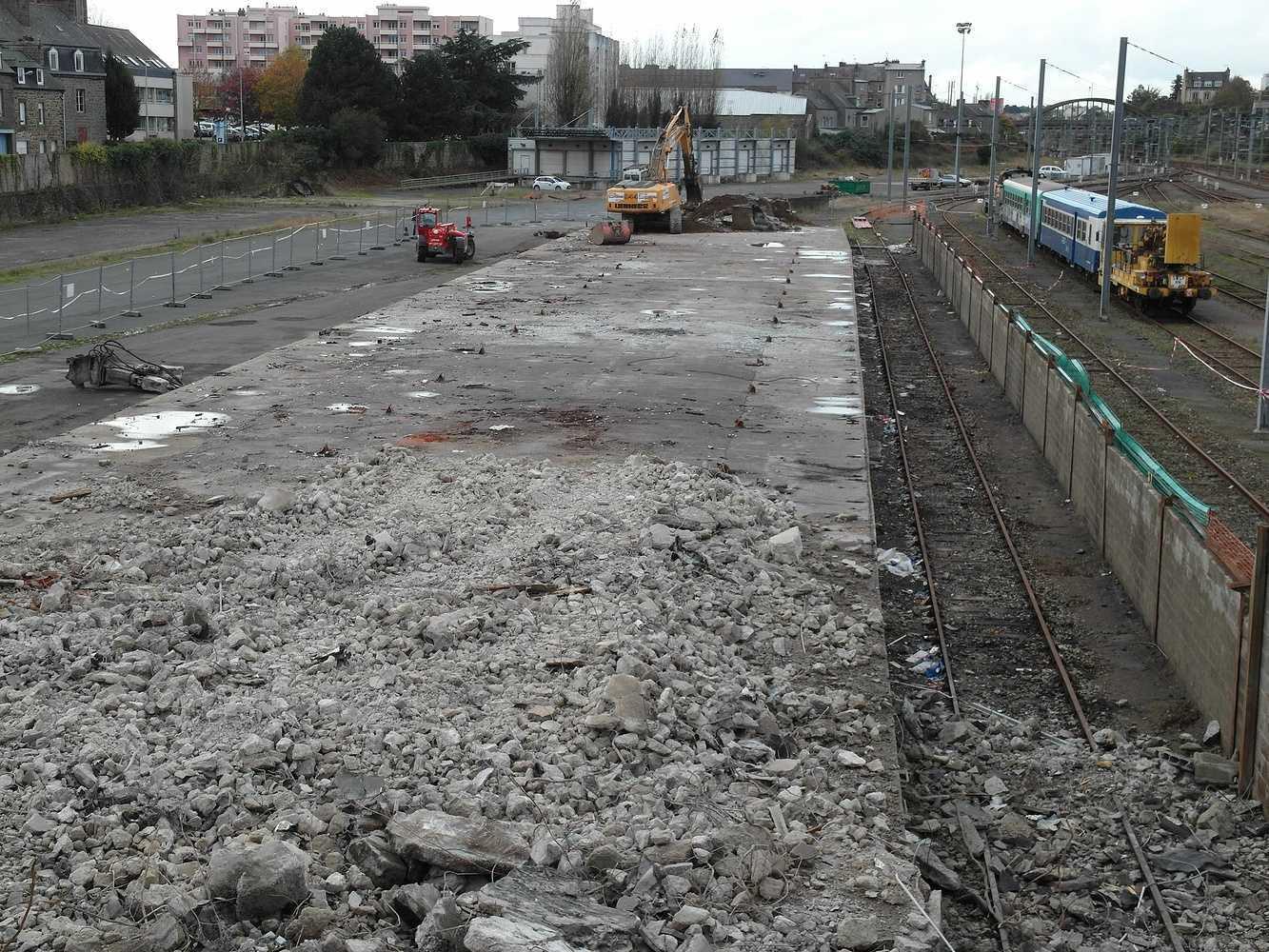 Les travaux continuent sud gare 2014 sam5149