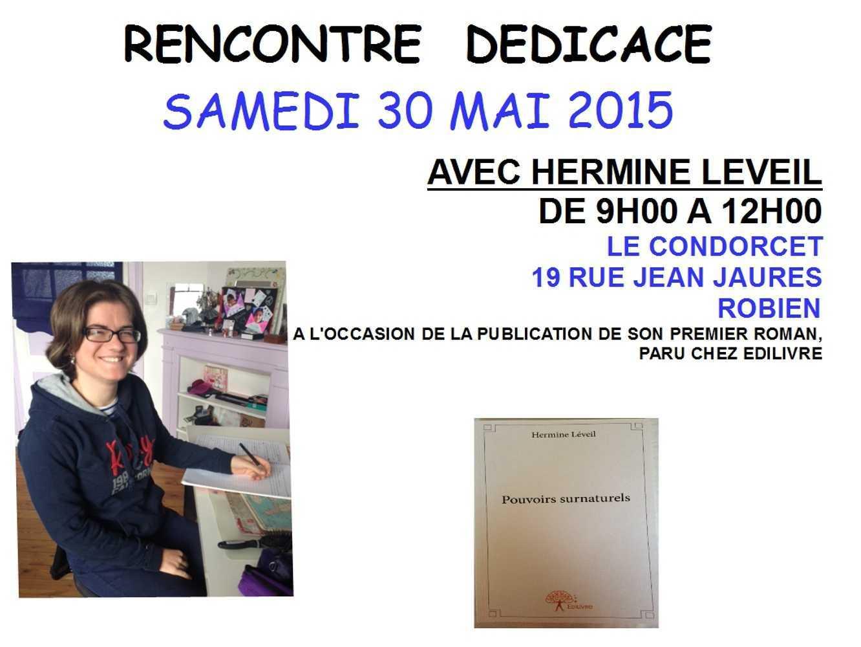 Rencontre dédicace avec Hermine Leveil au Condorcet 0