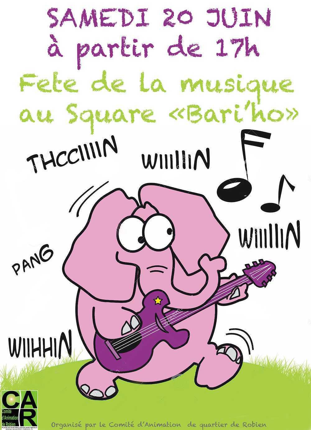 """Fête de la musique : le 20 juin au square """"Bari''ho"""" 0"""