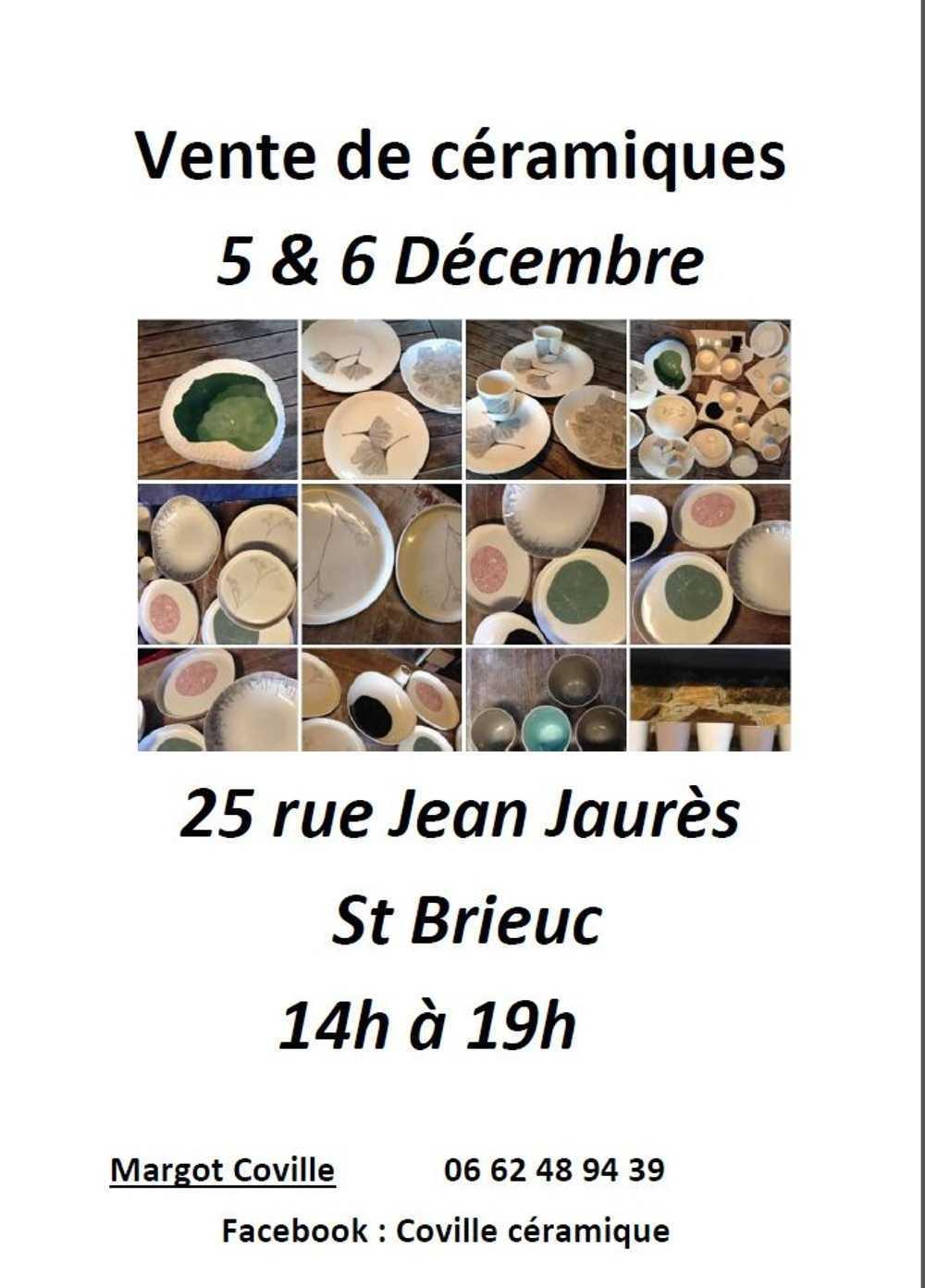 Vente de céramiques 5 et 6 décembre 0