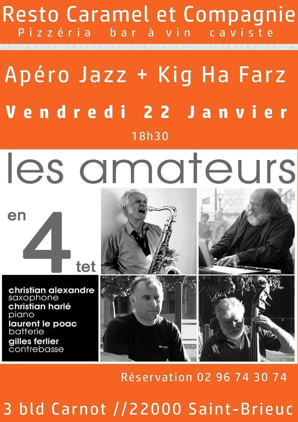 Apéro jazz et Kig Ha Farz le 22 janvier 0