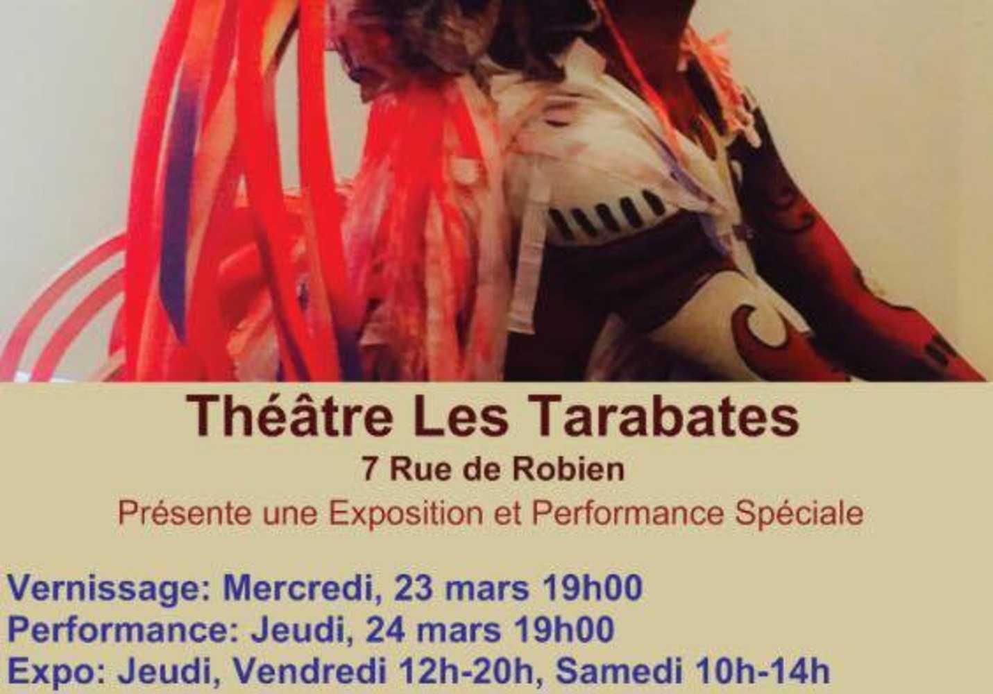 Exposition artistique et théâtrale au théâtre des Tarabathes, 7 rue de Robien 0