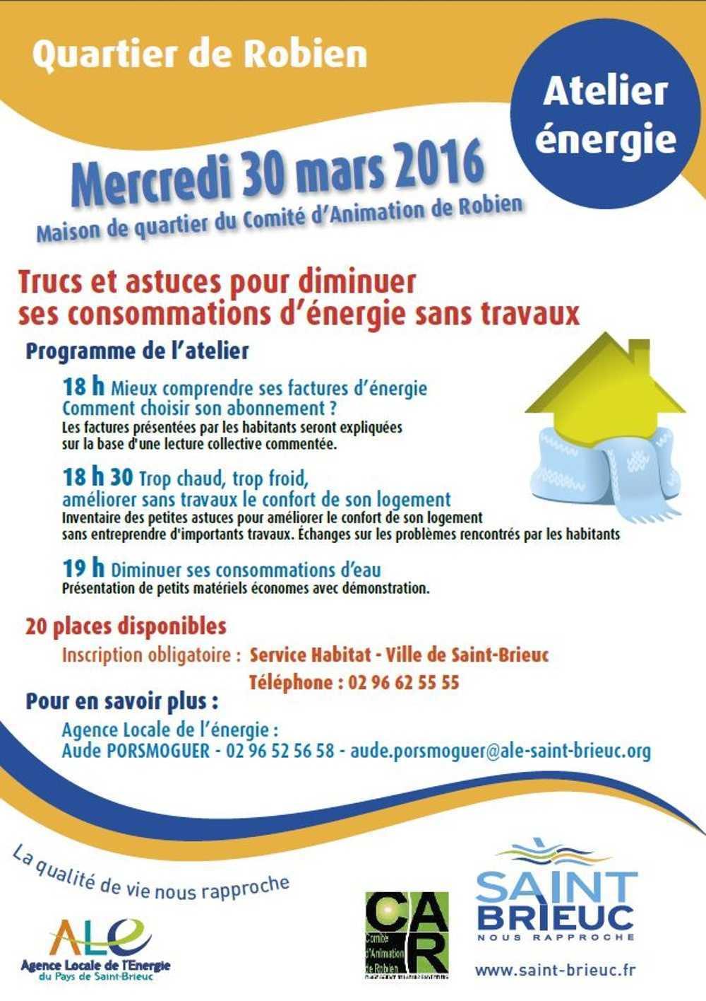 Premier atelier énergie le 30 mars 2016 0