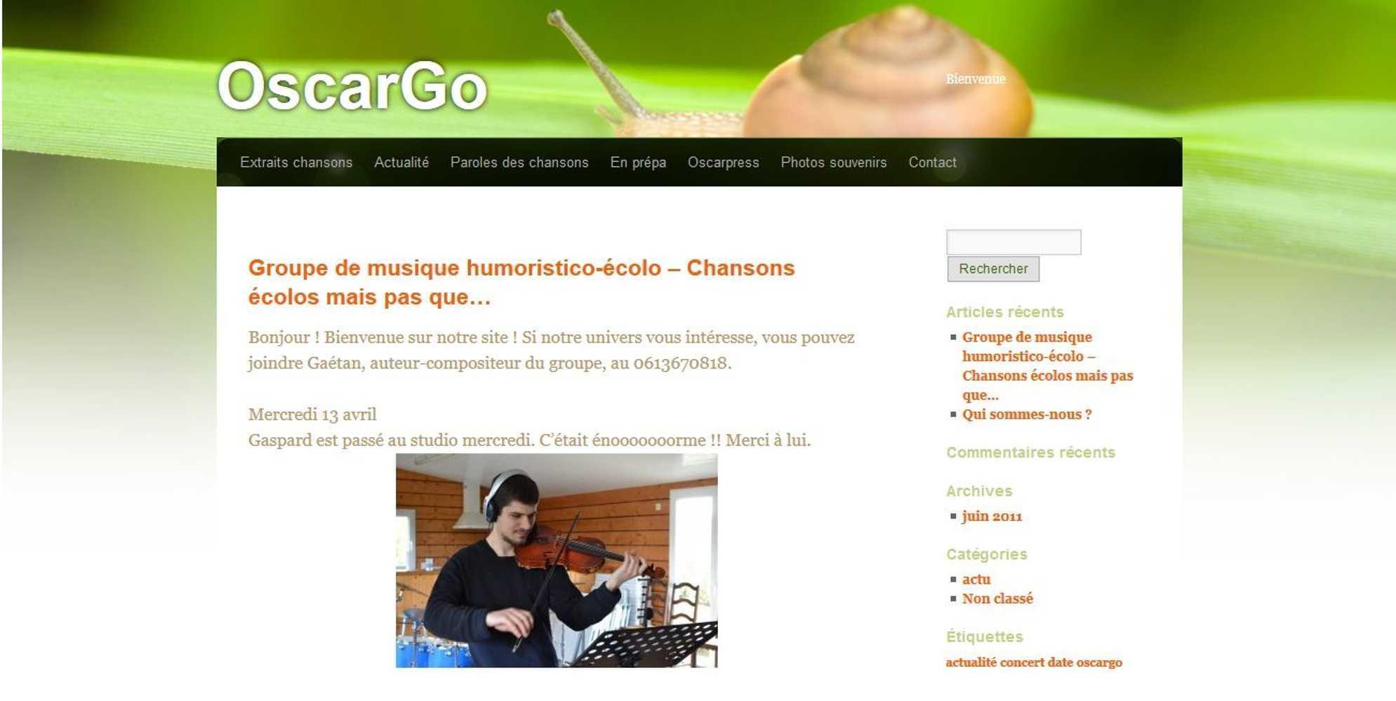 Le vendredi 22 avril à 20 heures 30, le comité de quartier de la Ville-Jouha reçoit « OscarGo » 0