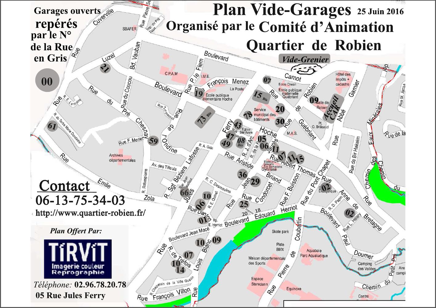 La carte du vide-garage du samedi 25 0