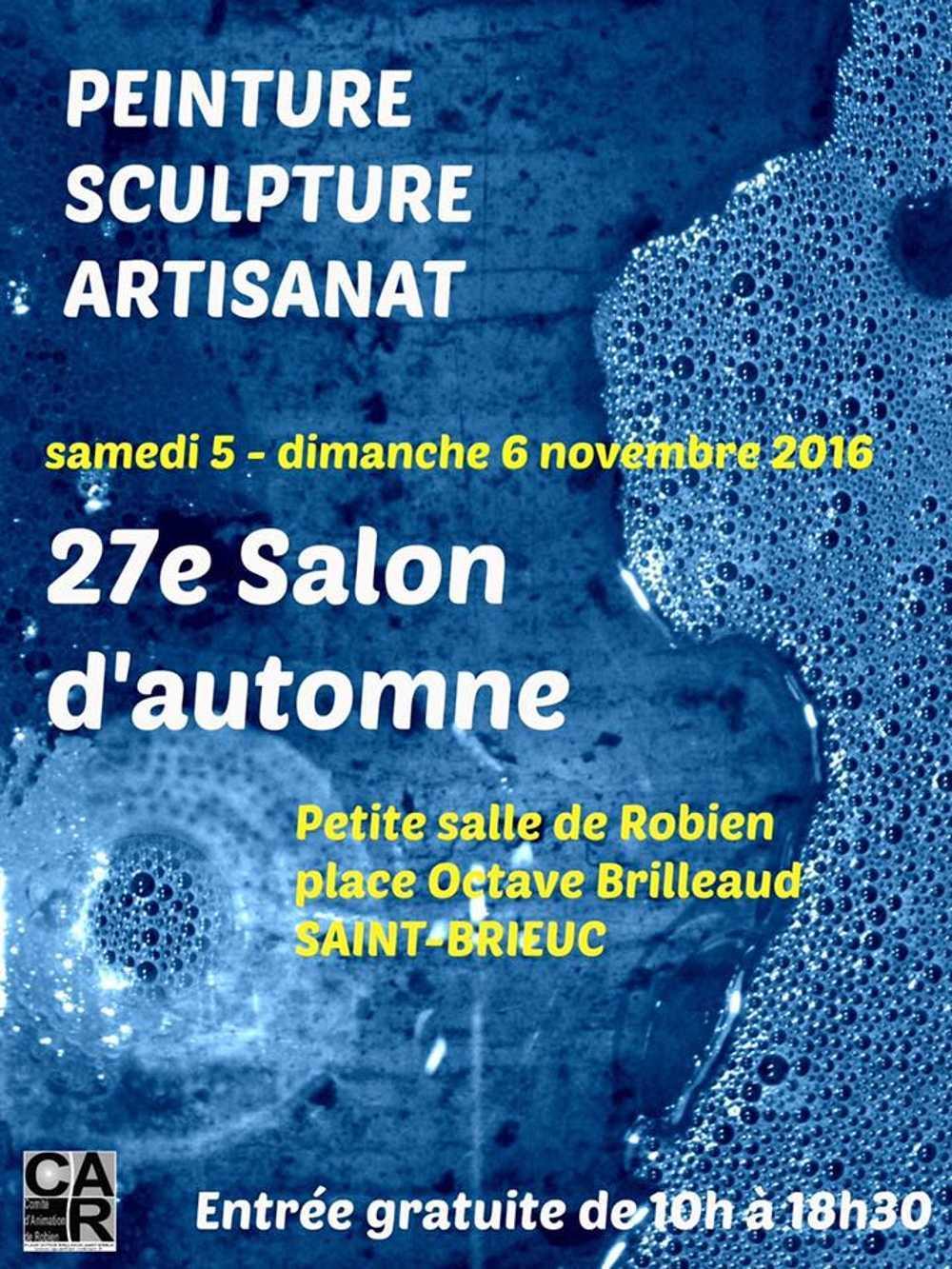 27ième salon d''automne : 5 et 6 novembre 2016 à Robien 0