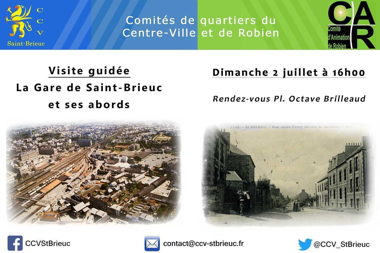 """Visite guidée : """"La gare de St Brieuc et ses abords"""" 2juillet2017"""