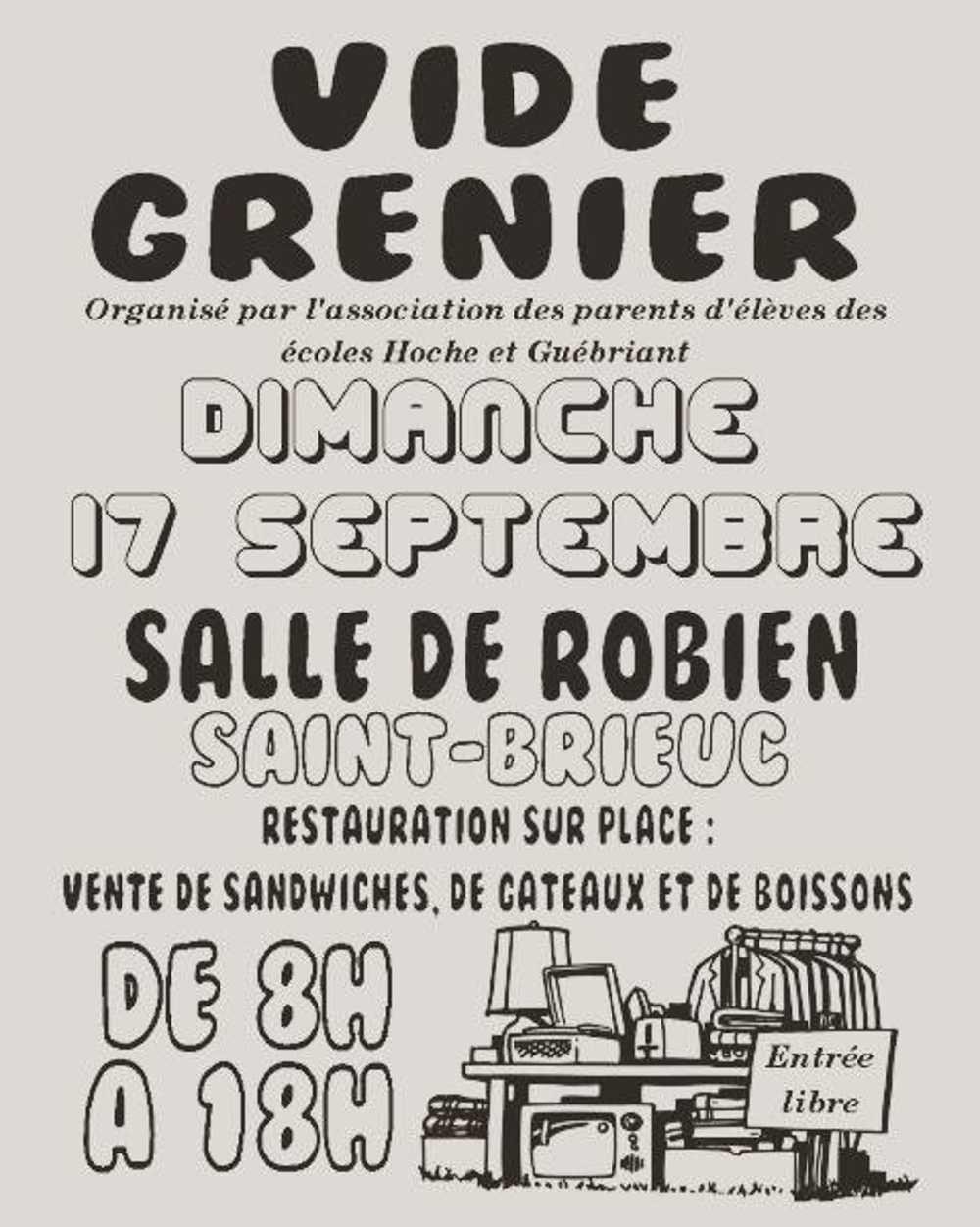 Vide grenier des écoles Hoche et Guébriand le 17 septembre 2017 0