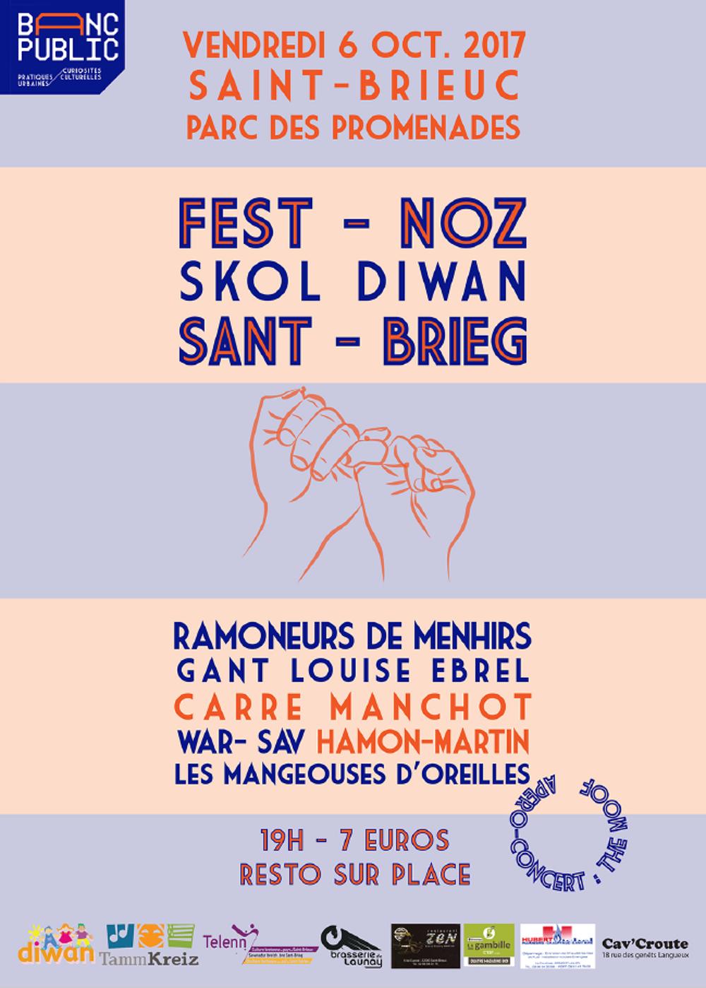 Fest-Noz de l''école Diwan Sant Brieg aura lieu le Vendredi 06 Octobre2017 0