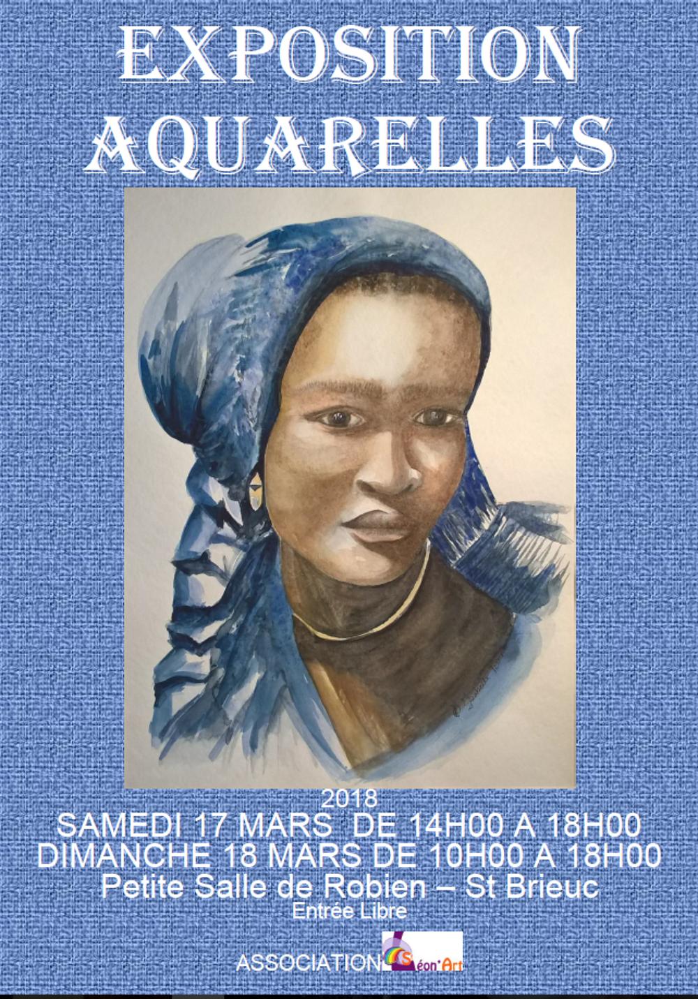Exposition d''aquarelles 17 et 18 mars sanstitre