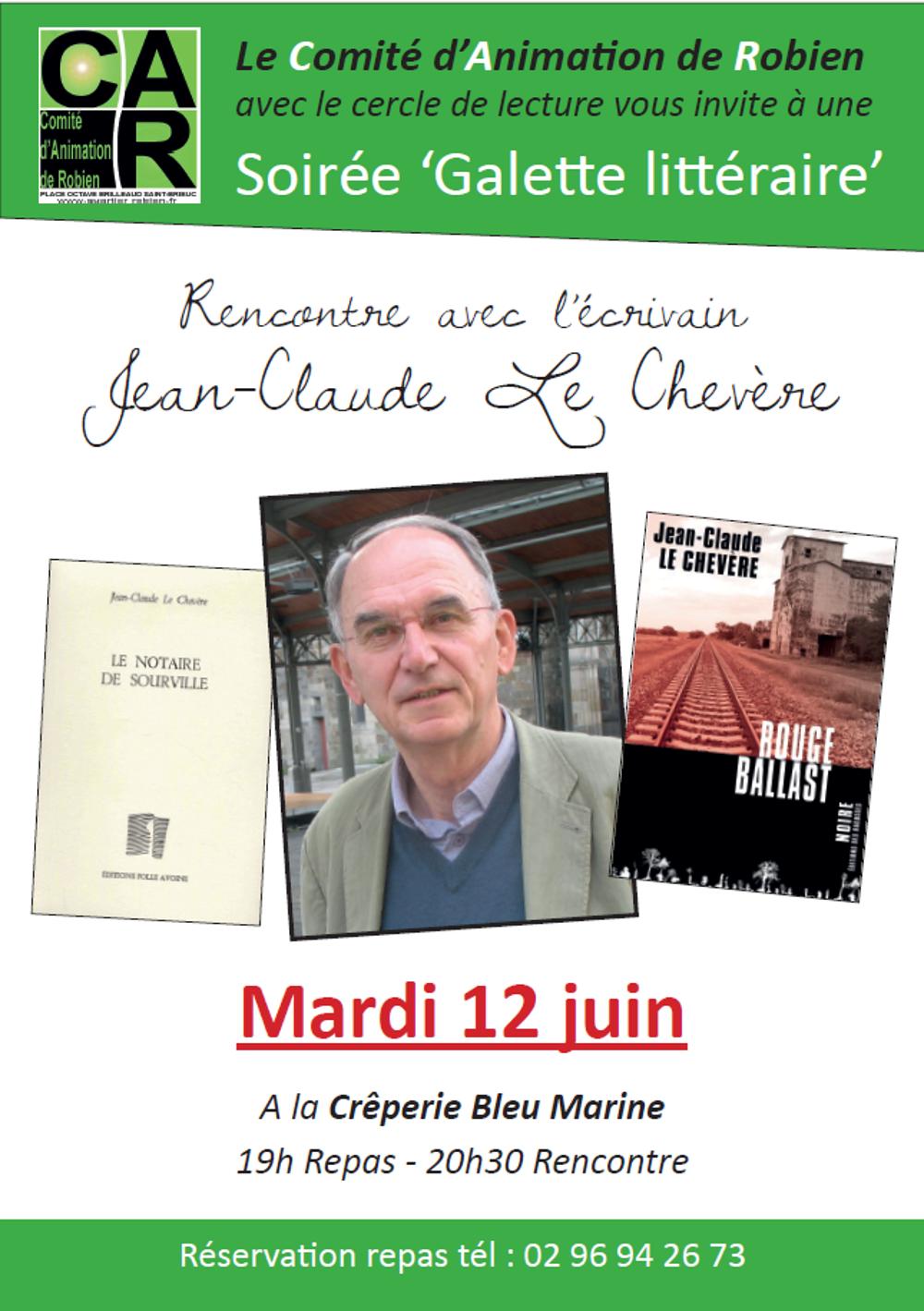 Galette littéraire avec Jean-Claude Le Chevère le 12 juin galettelit