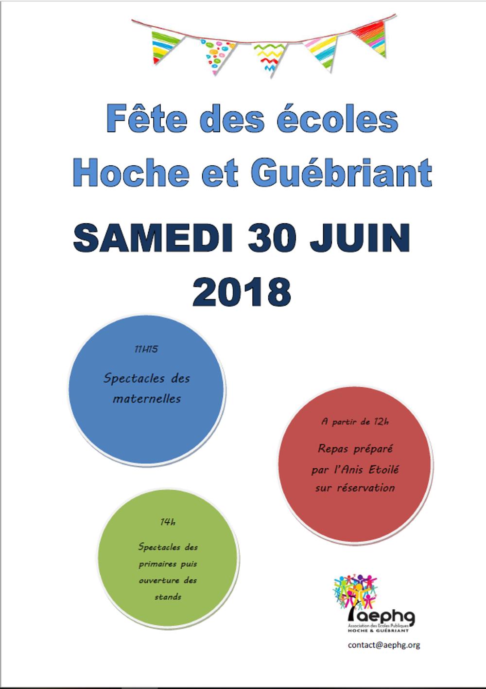 Kermesse des écoles Hoche et Guébriand le 30 juin 0