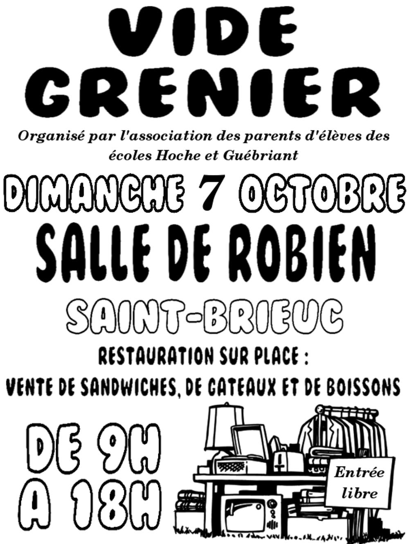 Vide grenier des écoles Hoche et Guébriand le 7 octobre, grande salle de Robien 0