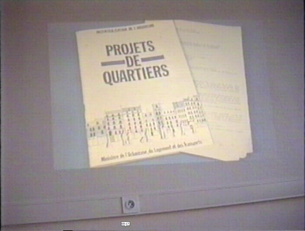 le projet de quartier 1985