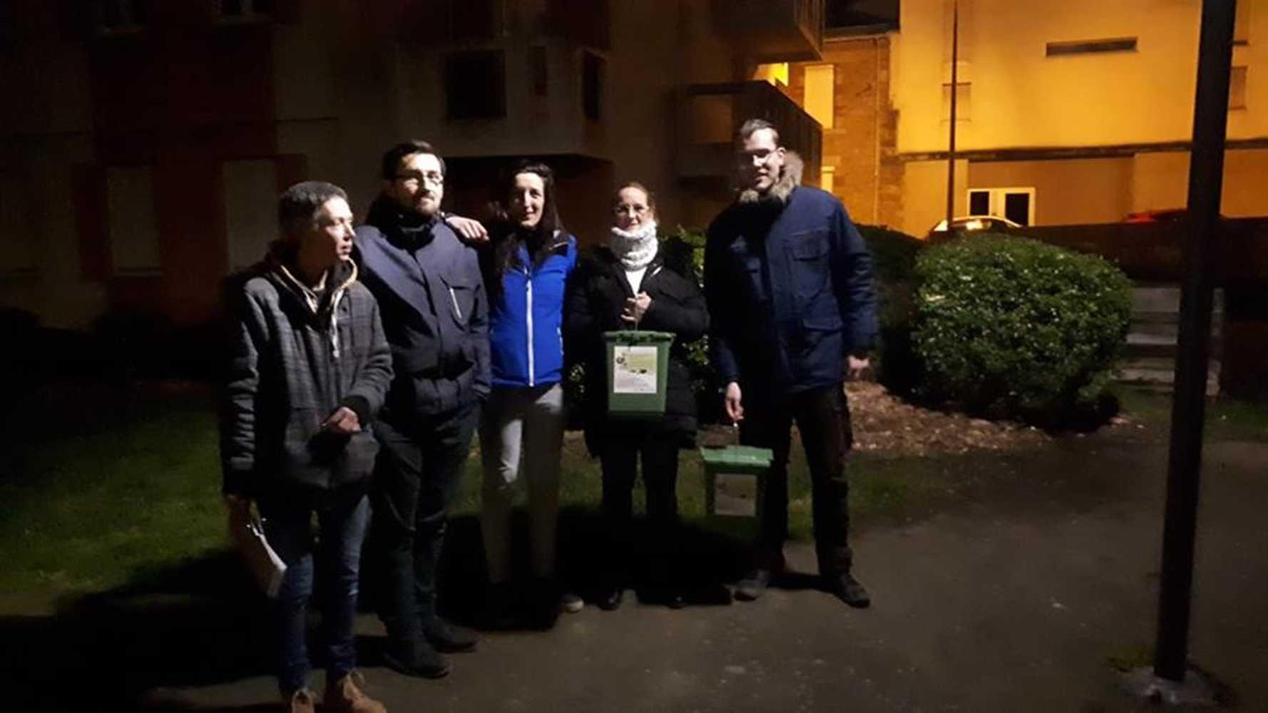 Porte à porte pour du compostage collectif dans les immeubles Carnot 0