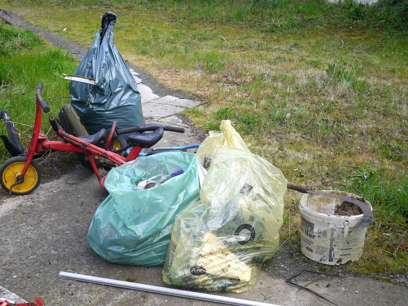 Collecte de déchets dans le quartier p1290023