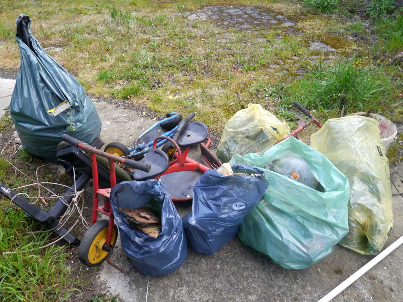 Collecte de déchets dans le quartier p1290024