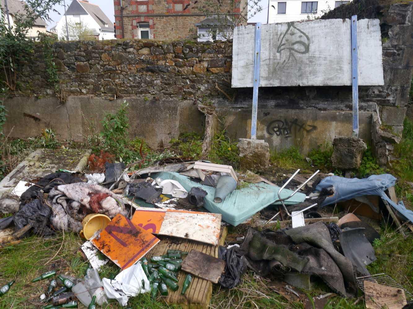 Collecte de déchets dans le quartier 0